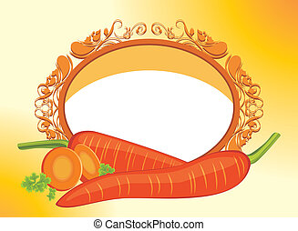 Carrots with slices in the frame
