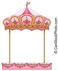 carrousel, cavalcade, sans, cheval