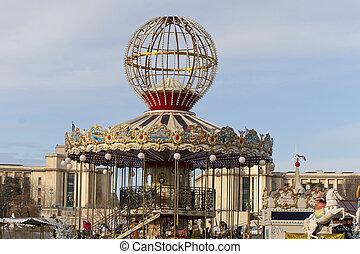 carrousel, dans, paris
