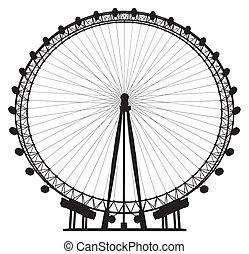 carrousel, silhouette