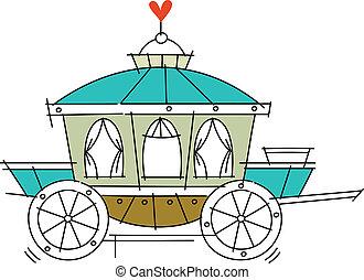 carruagem, ícone