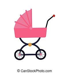 carruagem bebê, ícone
