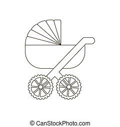 carruagem bebê, ilustração