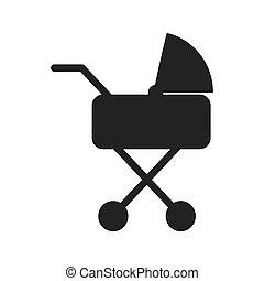 carruagem bebê, silueta