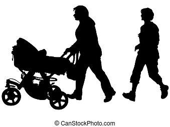 carruagem, famílias