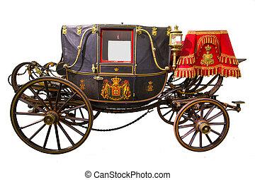 carruagem, histórico, pretas
