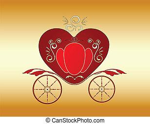 carruagem, real, valentine