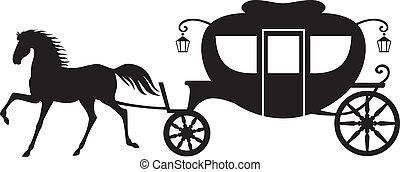 carruaje, caballo