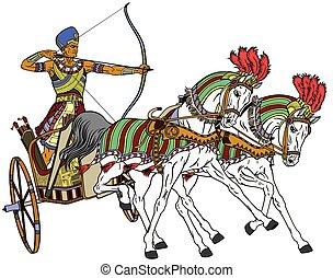 carruaje, egipcio