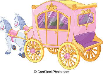 carruaje, princesa