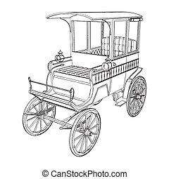 carruaje, victoriano, taxis