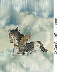 carrusel, caballo