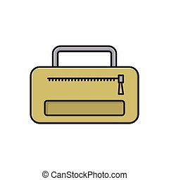 carry flat color icon