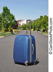 Carry on Luggage in Neighborhood