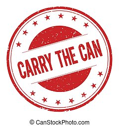 CARRY-THE-CAN stamp sign