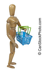 Carrying a Shopping Basket