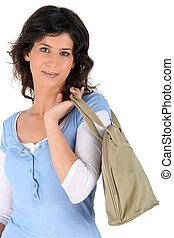 Carrying bag on white background