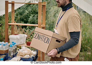 Carrying Box With Donation
