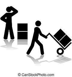 Carrying boxes with hand truck