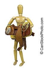 Carrying Western Saddle