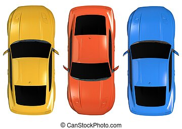 Cars Aerial Illustration