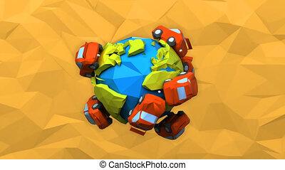 Cars around the world - 4K digital animation