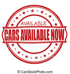 Cars available now - Stamp with text cars available now...