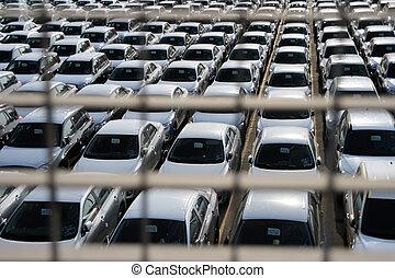 cars behind bars