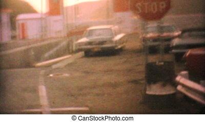 Cars Boarding Ferry In Canada-1969