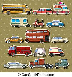 Cars cartoon stickers