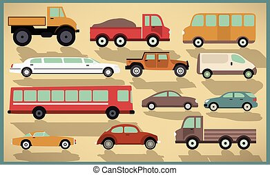 Vector illustration of cars collection