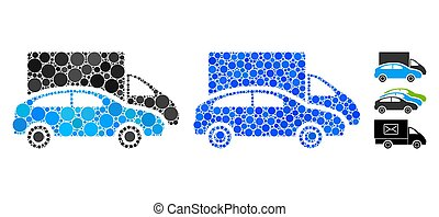 Cars Composition Icon of Spheric Items - Cars composition of...