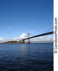 Cars cross the San Francisco side of Bay Bridge