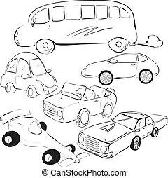 Cars Doodle