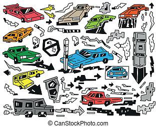 cars doodles