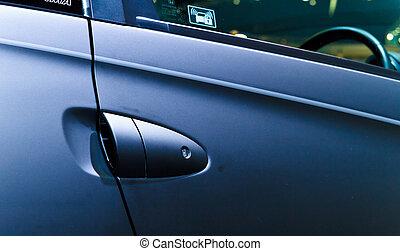 Car's door handle - Black sport car's door handle.