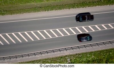 Cars driving on the road