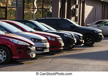 Cars For Sale Stock Lot Row
