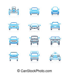 Cars front view icons | MARINE - Modern and vintage cars...