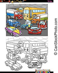 cars group coloring book