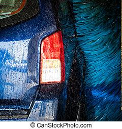cars in a carwash