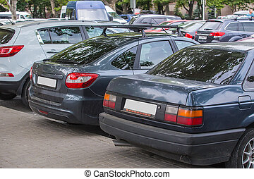cars in the parking lot