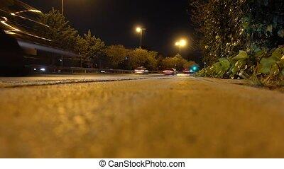 cars motion blur - Cars speeding on the motorway at night....