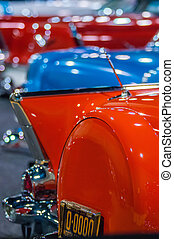 cars on display at an autoshow - cars on display at local...