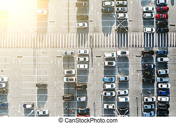 Cars on parking