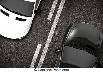 Cars on the Road Closeup