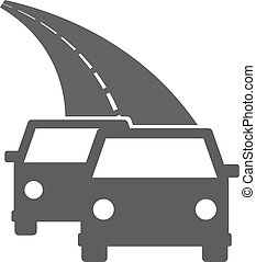 Cars on the road icon