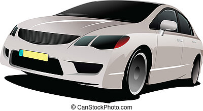 Cars on the road. Vector illustration