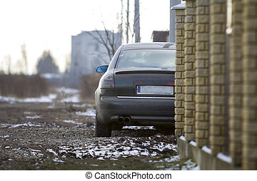 Cars parked on the side of the street