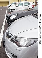 cars parking lot